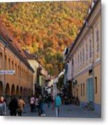 Autumn In Brasov Metal Print