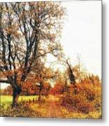 Autumn On White Metal Print