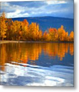 Autumn Reflections At Sunoka Metal Print