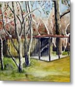 Autumn Shed Metal Print