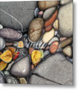 Autumn Stones Metal Print by JQ Licensing