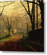 Autumn Sunshine Stapleton Parknear Pontefract  Metal Print