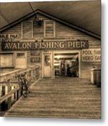 Avalon Fishing Pier Metal Print