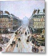 Avenue De L'opera - Effect Of Snow Metal Print