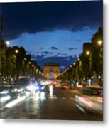 Avenue Des Champs Elysees. Paris Metal Print by Bernard Jaubert