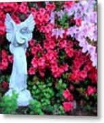 Azalea Garden Angel Metal Print