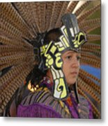 Aztec Dancer Metal Print