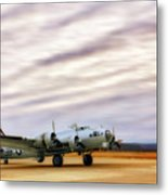 B-17 Aluminum Overcast - Bomber - Cantrell Field Metal Print