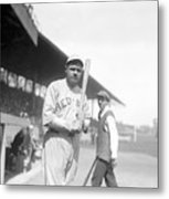 Babe Ruth, 1919 Metal Print by Everett