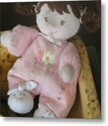 Baby's First Doll Metal Print