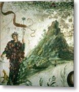 Bacchus, Roman God Of Wine, Stands Metal Print