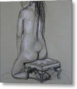 Back Nude 1 Metal Print