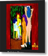 Backstage Drama Metal Print