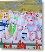 Bad Bears Metal Print