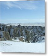 Badlands Under Snow II  Metal Print
