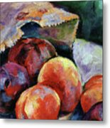 Bag Of Fruit Metal Print