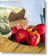 Bag With Apples Metal Print