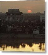 Baghdad And The Tigris River At Sunset Metal Print
