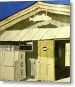 Bait Shop In Gasparilla Florida Metal Print