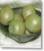 Baking Apples Metal Print