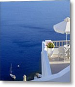 Balcony Over The Sea Metal Print by Joana Kruse