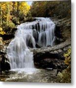 Bald River Falls In Autumn Metal Print