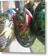 Bali Wooden Eggs Artwork Metal Print