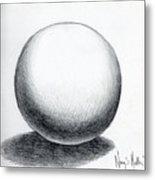 Ball With Shadow Metal Print