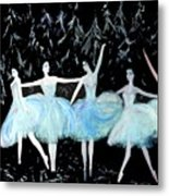 Ballet In Blue Metal Print
