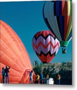 Ballon Launch Metal Print