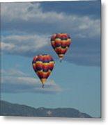 Balloons Over The Rockies Metal Print
