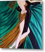 Ballroom Dancers Champagne Tango Metal Print