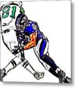Baltimore Ravens  Ray Lewis - New York Jets Dustin Keller Metal Print by Jack K