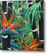 Bamboo And Birds Of Paradise Metal Print