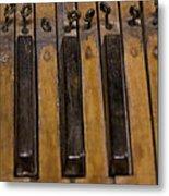 Bamboo Organ Keys Metal Print