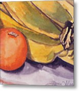 Bananas And Blood Oranges Still-life Metal Print