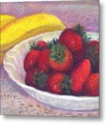 Bananas And Strawberries Metal Print