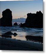 Bandon Oregon Sea Stacks Metal Print