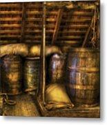 Bar - Wine Barrels Metal Print