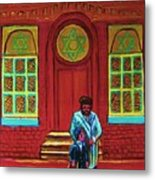 Bar Mitzvah Lesson At The Synagogue Metal Print