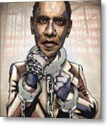 Barack Obama - Stimulate This Metal Print by Sam Kirk