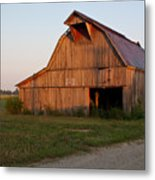Barn At Early Dawn Metal Print