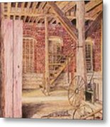 Barn Cat Metal Print