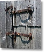 Barn Door Latches Metal Print