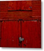 Barn Doors Metal Print