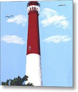 Barnegat Lighthouse Painting Metal Print