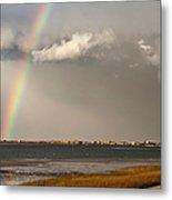 Barnstable Harbor Rainbow Metal Print by Charles Harden