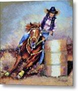 Barrel Rider Metal Print