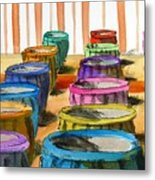 Barrels Of Color Metal Print