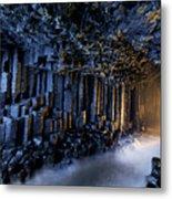 Basalt Pillars Line Fingals Cave Metal Print